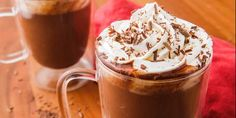 Homemade hot chocolate is infinitely better than boxed mix. And our recipe is extra decadent, thanks to the cup of actual chocolate (not just cocoa powder). New Year's Desserts, Cute Desserts, Christmas Desserts, Dessert Recipes, Thm Recipes, Holiday Foods, Dessert Ideas, Drink Recipes, Breakfast Recipes