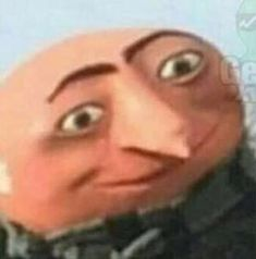 I AM GRU sorry the crackhead energy Really Funny Memes, Stupid Funny Memes, Funny Relatable Memes, Haha Funny, Funny Profile Pictures, Funny Reaction Pictures, Funny Pictures, Profile Pics, Dog Pictures