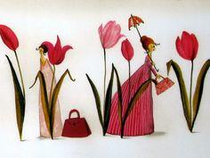 Designer Paper Silke Leffler Design by buchundbox on Etsy, Illustrator, Textiles, All Poster, Whimsical Art, Cute Illustration, Paper Design, Rock Art, Vintage Art, Designer