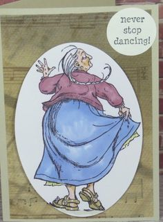 Handmade Greeting Card Gift Any Occassion Birthday Dancing