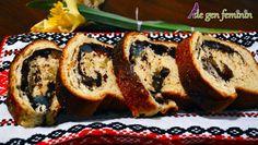 Cozonac tradițional cu nucă, rahat și cacao