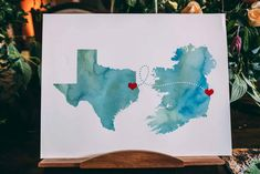 Guest Book Map Print Travel Tinakilly Country House Wedding Conor Brennan Photography #GuestBook #Wedding