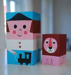 Kickcan & Conkers: Bods from Blocks Wood Crafts, Fun Crafts, Conkers, Wooden Dolls, Wood Toys, Wood Blocks, Creative Inspiration, Diy For Kids, Illustration Art