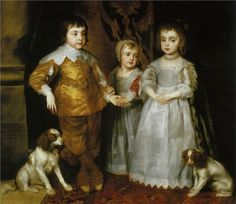 Anthony van Dyck, Portrait of the Three Eldest Children of Charles I, c. early 1630s