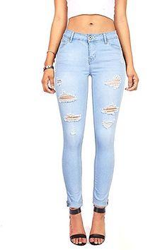 Conqueror Femmes Mini Jeans Taille Basse Lav/é Solide Denim Pantalons Shorts