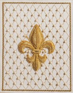 'With Florentine Fleur de Lys, Michele Roberts explores this complex and delicate Renaissance Italian design with traditional raised English goldwork, beading, and needlepoint. You use six types of gold and various techniques. Different lattices of pearls and gold are used for the background and border. For more information and to register for this Correspondence Course, go to http://needlepoint.org/CorrClasses/classes/florentine-fleur-de-lys.php'