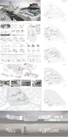 School of Architecture Park Da Som Architecture Portfolio Template, Villa Architecture, Concept Models Architecture, Architecture Concept Drawings, Library Architecture, School Architecture, Education Architecture, Architecture Layout, Presentation Board Design