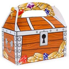 Celebrate with the Treasure Chest Favor Box (12-pack) for your party.  Find amazing selections and prices on all birthday party decorations & supplies at Birthday in a Box.