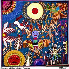 Example of Huichol Yarn Painting