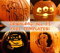 18 MORE Spooktacular Disney Character Jack O'Lantern Ideas & Patterns | FREE at Disney Baby