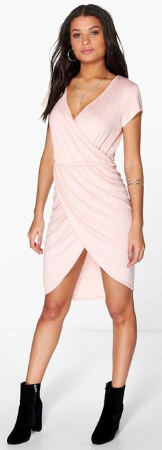 Elise Wrap Over Midi Dress - Dresses  - Street Style, Fashion Looks And Outfit Ideas For Spring And Summer 2017