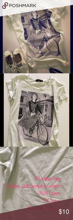 Alexander Konasov tee with Audrey Hepburn graphic Alexander Konasov tee with Audrey Hepburn graphic. This shirt has been gently used. The only sign of wear is the inner tag had the designers name printed in white which is worn off. There is another tag with the designers name on the outside that is in tact. Alexander Konasov Tops Tees - Short Sleeve