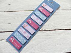 Haftnotizen Memo Notizzettel Bookmarker dunkelblau von frau zwerg auf DaWanda.com 2,70€