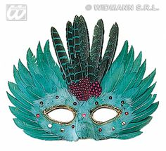 Feathered carnival mask