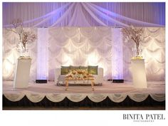 braided fabric backdrop event decor - Google Search
