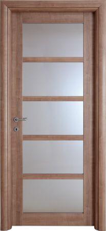 Porta scorrevole vetro e legno modello ad angolo - Verniciare porte interne laminato ...