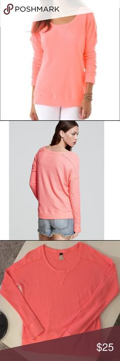 Free People Thermal Top EUC bring pink Thermal. Super comfy and cute. Color is more true to the model pics.  No stains, rips, or holes. Relaxed fit, will fit a medium. Smoke free home. Free People Tops Tees - Long Sleeve