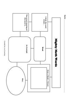 math vocabulary graphic organizer - FREE