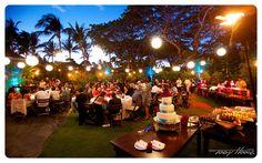 Lanterns play up the 'beach-chic' vibe at this lively @Four Seasons Resort Hualalai at Historic Ka'upulehu reception.