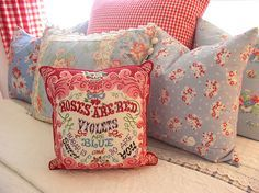 Vintage fabric pillows # Pinterest++ for iPad #