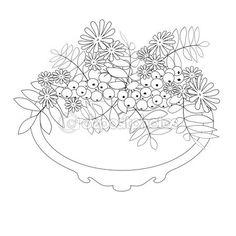 Раскраска страницу с декоративных цветочных декоративных элементов il — Стоковое изображение #102237658
