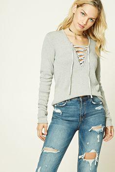 26 Best Lace Up Sweater images  e102a458d