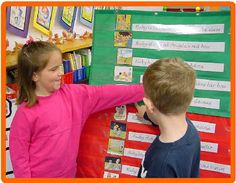 Retelling Center    The Retelling Center is a place where students practice retelling familiar stories using scanned pictures.  Retelling is done using a pocket charts, a flannel board, a magnetic board, and even a puppet theater.  Retelling a story increases a student's depth of comprehension.  Students are encourages to use transition words like first, next, then, and finally when retelling the stories.