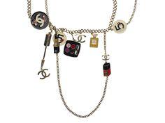 Chanel Enamel Makeup Necklace