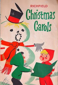 Vintage 1950s Richfield Christmas Carols  Cut Outs