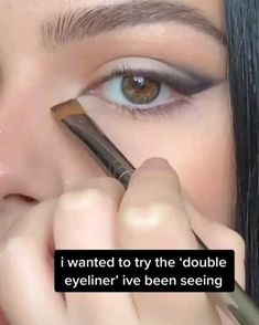 Edgy Makeup, Makeup Eye Looks, No Eyeliner Makeup, Cute Makeup, Skin Makeup, Makeup Looks Tutorial, Smokey Eye Makeup Tutorial, Maquillage On Fleek, Creative Eye Makeup