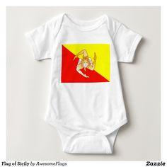Flag of Sicily Baby Bodysuit