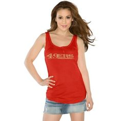 Touch by Alyssa Milano San Francisco 49ers Ladies Curve Ball Tank Top - Scarlet