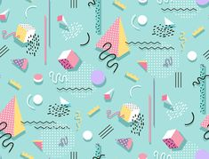 Design Trend: A Look at Memphis Style Then and Now – Memphis Pattern for Web Memphis Design, Memphis Art, Graphic Design Cv, 80s Design, Graphic Design Inspiration, 90s Pattern, Pattern Design, Iphone Wallpaper Vsco, Memphis Pattern