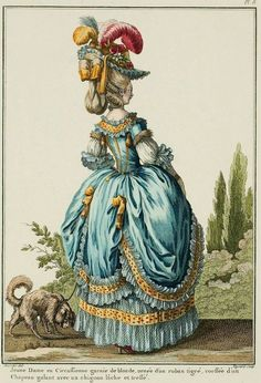 Today I have a few more fashion plates from the time of Marie Antoinette. This handful of French fashions are from around the years Rococo Fashion, French Fashion, Victorian Fashion, Vintage Fashion, Women's Fashion, Medieval Fashion, Ladies Fashion, 18th Century Dress, 18th Century Fashion
