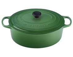 Le Creuset 9 1/2 qt. Oval French Oven in Fennel.  Love the color!!
