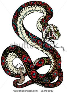 stock-vector-snake-with-open-mouth-tattoo-illustration-isolated-on-white-background-183798983.jpg (341×470)