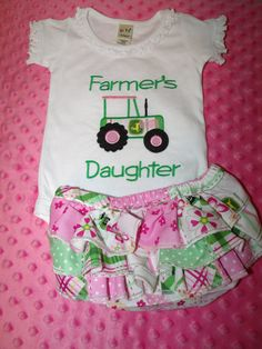 John Deere Ruffle Diaper Booty Cover AND Matching by rowanmayfairs, $46.00