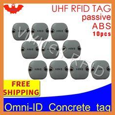UHF RFID Concrete tag omni-ID 915m 868mhz Impinj Monza4QT 10pcs free shipping durable ABS smart card passive RFID beton tags