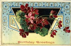 1910s Colorful Series 7102 German Flowers Postcard Birthday | eBay