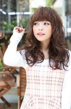 cute japanese hairstyle with bangs in 2019  hair  style