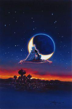 Aladdin - Magical Journey by Rodel Gonzalez presented by World Wide Art Disney Jasmine, Aladdin Et Jasmine, Princess Jasmine, Aladdin Princess, Disney Pixar, Disney E Dreamworks, Aladdin Film, Disney Aladdin Quotes, Aladdin Art