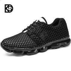 a21d3c856366 KSD New Style Sport Pantofi de alergare Air Mesh Cushion Pantofi pentru  bărbați Pantofi de vară Sport în aer liber Toate Black All White Male Shoes