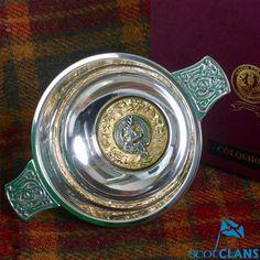 Colquhoun Clan Crest Quaich