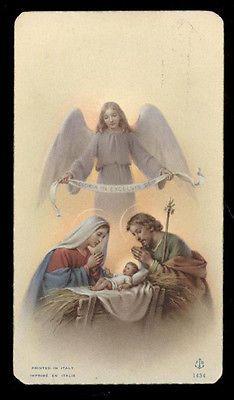 """santino-holy card""""""""ediz. FB*  n.1434 NATIVITA'"""