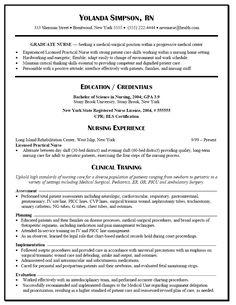 graduate nurse resume example