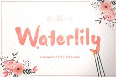 Waterlily Typeface by Maroon Baboon on @creativemarket