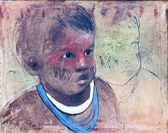 Índio Elon Brasil (Brasil, 1957) óleo sobre tela, 100 x 130 cm