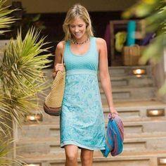 Athleta Vyasa Dress Tide Blue Tiger Lily SZ S