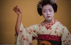 The Geisha are trained in how to dance and carry themselves with poise...