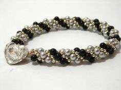 Tutorial for Pearl Twist Kumihimo Bracelet by DesignsByBettyRose